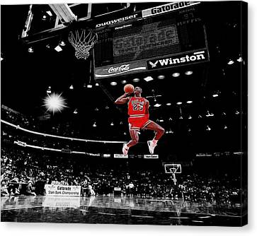 Dunk Canvas Print - Air Jordan by Brian Reaves