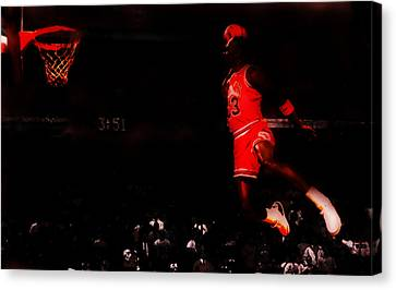 Air Jordan Crusing Altitude Canvas Print by Brian Reaves