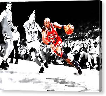 Air Jordan Drive On Starks Canvas Print by Brian Reaves
