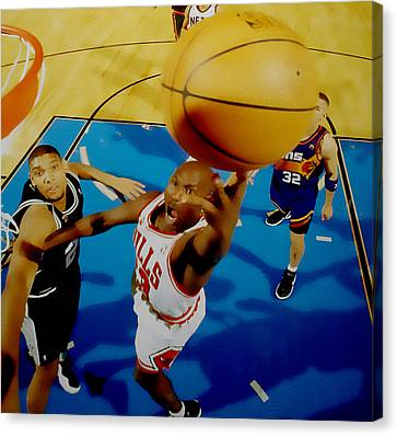Air Jordan Easy Two Canvas Print by Brian Reaves