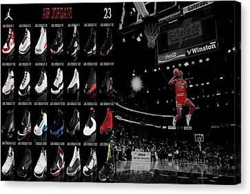 All Star Game Canvas Print - Air Jordan History Of Flight by Brian Reaves