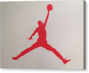 Air Jordan Canvas Print by Peter Virgancz