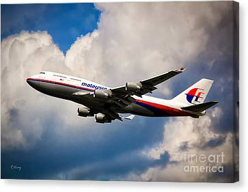 Malaysia Airlines B-747-400 Canvas Print by Rene Triay Photography