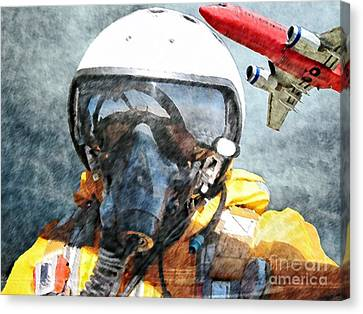 Air Pilot Canvas Print by Liane Wright
