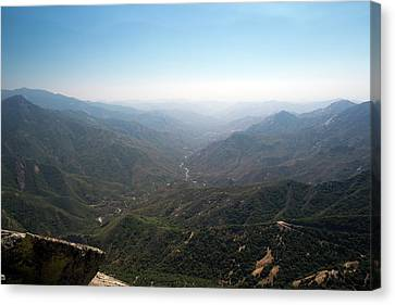 Air Pollution Over Sequoia National Park Canvas Print by Jim West