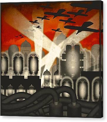 Air Raid Canvas Print by Milton Thompson