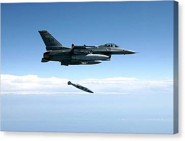 Munitions Canvas Print - Air-to-ground Weapons System Evaluation by 86th Fighter Weapons Squadron