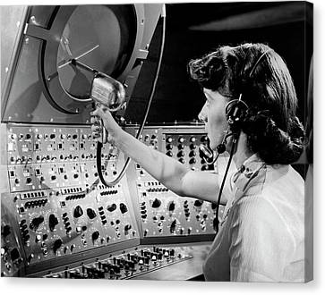 Air Traffic Control System Canvas Print by Underwood Archives