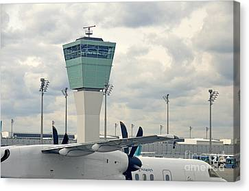 Air Traffic Control Tower Canvas Print by Sami Sarkis