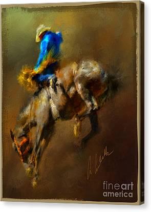 Airborne Cowboy Canvas Print