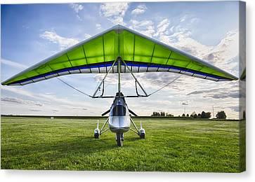 Shift Canvas Print - Airborne Xt-912 Microlight Trike by Adam Romanowicz