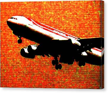 Airbus 340 Canvas Print by Marcello Cicchini