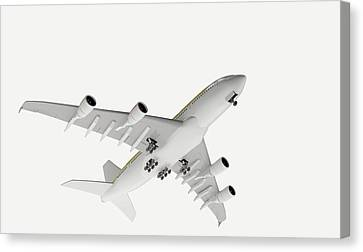 Airbus Flying Canvas Print by Dorling Kindersley/uig