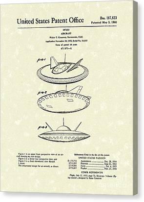 Aircraft 1960 Patent Art Canvas Print by Prior Art Design