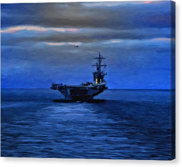 Aircraft Carrier Canvas Print by Michael Pickett