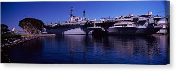 Aircraft Carriers At A Museum, San Canvas Print by Panoramic Images
