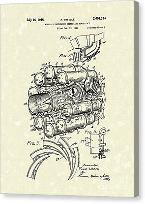 Unit Canvas Print - Aircraft Propulsion 1946 Patent Art by Prior Art Design