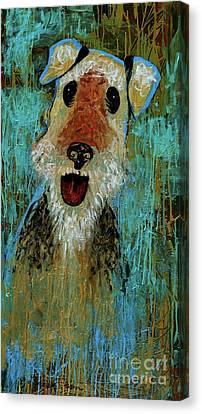 Airedale Terrier Canvas Print by Genevieve Esson