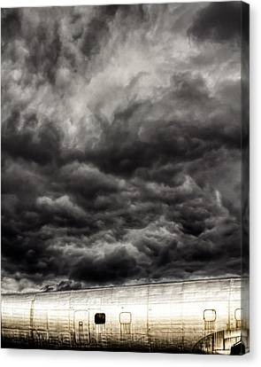 Canvas Print featuring the photograph Airplane by Bob Orsillo