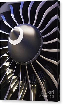 Airplane Engine Canvas Print by Mark Williamson