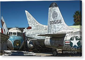 Airplane Graveyard - 19 Canvas Print by Gregory Dyer