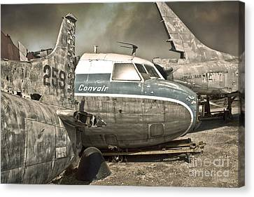 Airplane Graveyard Canvas Print by Gregory Dyer