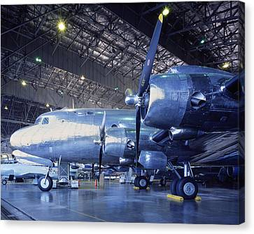 Airplane Hanger Canvas Print by Jon Neidert