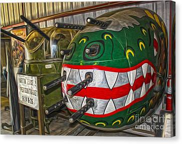 Airplane Nose Gun Turret Canvas Print by Gregory Dyer