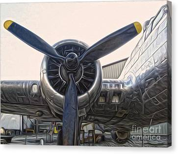 Airplane Propeller - 01 Canvas Print by Gregory Dyer