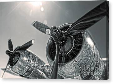 Airplane Propeller - 03 Canvas Print by Gregory Dyer