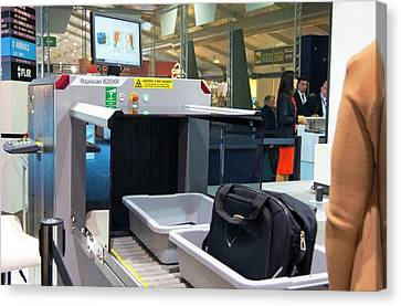 Airport Baggage X-ray Scanner. Canvas Print