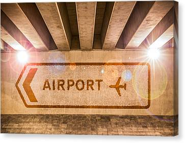 Airport Directions Canvas Print by Semmick Photo