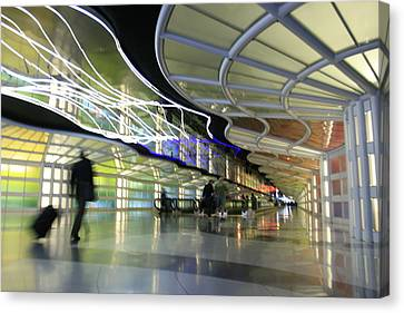 Canvas Print featuring the photograph Airport Rush by Kate Purdy