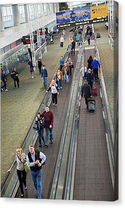 Airport Travelators Canvas Print