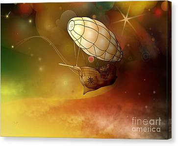 Airship Ethereal Journey Canvas Print