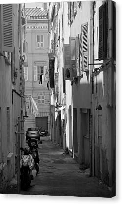 Ajaccio Back Alley Canvas Print