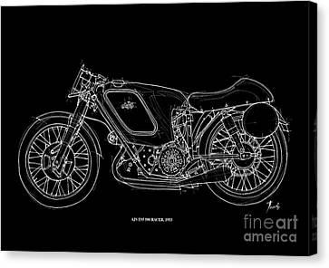 Ajs E95 500 Racer 1953 Canvas Print by Pablo Franchi