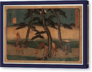 Akasaka, Ando Between 1844 And 1848, 1 Print  Woodcut Canvas Print by Utagawa Hiroshige Also And? Hiroshige (1797-1858), Japanese