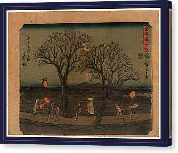 Akasaka, Ando Between 1848 And 1854, 1 Print  Woodcut Canvas Print by Utagawa Hiroshige Also And? Hiroshige (1797-1858), Japanese