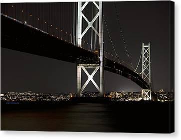 Akashi Kaikyo Bridge Japan Canvas Print by Daniel Hagerman