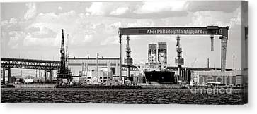 Aker Philadelphia Shipyard Canvas Print by Olivier Le Queinec