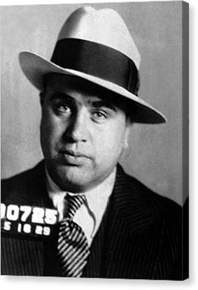 Al Capone, American Mobster Canvas Print by Science Source