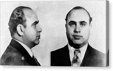 Al Capone Mug Shot Canvas Print by Dan Sproul