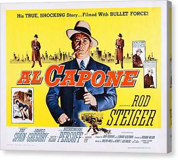 Al Capone, Us Lobbycard, Rod Steiger Canvas Print by Everett