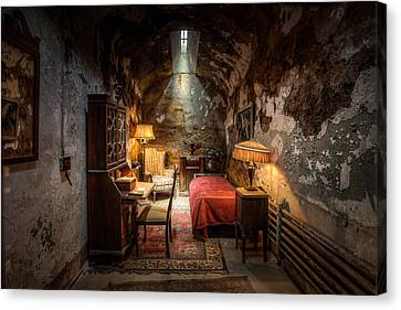 Al Capone's Cell - Historical Ruins At Eastern State Penitentiary - Gary Heller Canvas Print by Gary Heller