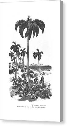 Backward Canvas Print - Al Certainly Leans Over Backward To Be True by Robert J. Day