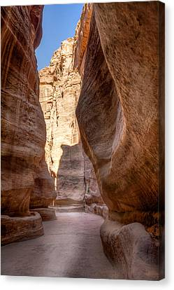Al Siq The Canyon Canvas Print by Alexey Stiop