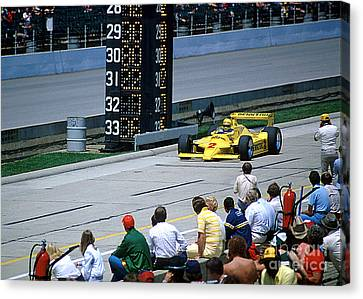 Al Unser Sr. Driving Thru Pit Lane Canvas Print