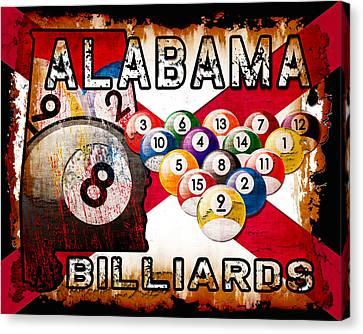 Alabama Billiards Canvas Print by David G Paul