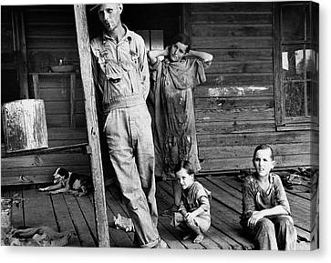 Alabama Family, 1936 Canvas Print